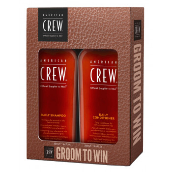 Набор American Crew Groom to Win (Шампунь Daily 250мл + Кондиционер Daily 250мл)