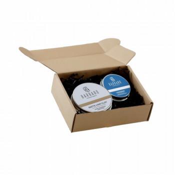 Набор Barbaro: Бальзам LENINGRAD 30мл, Матовая глина для укладки волос Barbaro, 60 гр