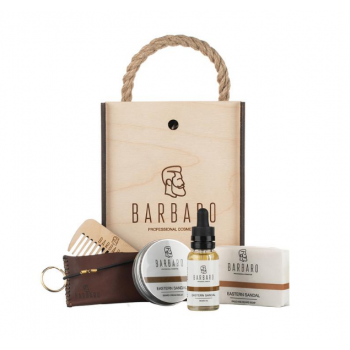 Набор для ухода за бородой Barbaro, в деревянном боксе
