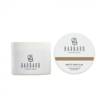 Матовая глина для укладки волос Barbaro, 200 гр