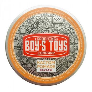Помада для укладки волос сильной фиксации со средним уровнем блеска Boy's Toys Кастом Pomade 40 мл
