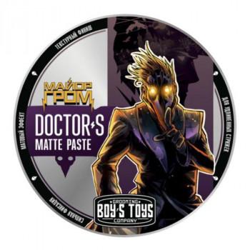 Паста для укладки волос сильной фиксации с низким уровнем блеска Boy's Toys Doctor's Matte Paste 100 мл