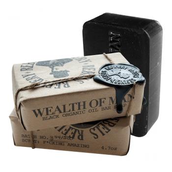 Увлажняющее черное мыло с маслом Оливы Rebels Refinery, 90гр