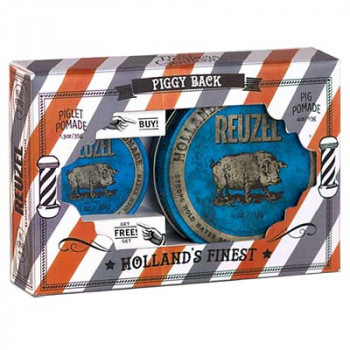 Набор помад Reuzel Water Soluble Strong Hold Blue Pomade 113 гр + 35 гр