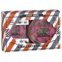 Набор помад Reuzel Grease Heavy Hold Pink Pomade 113 гр + 35 гр