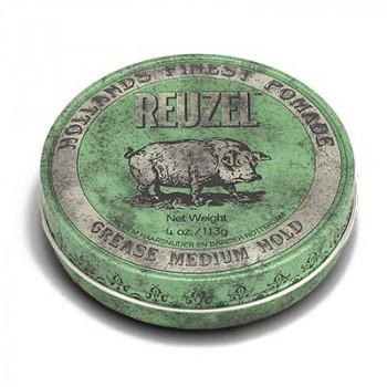 Помада средней фиксации Зеленая Reuzel Grease Medium Hold Green Pomade Pig 113 гр