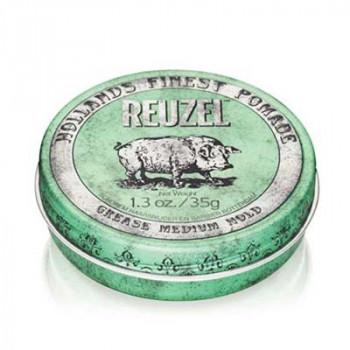 Помада средней фиксации Зеленая Reuzel Grease Medium Hold Green Pomade Piglet 35 гр