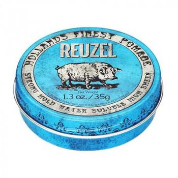 Помада сильной фиксации Синяя Reuzel Water Soluble Strong Hold Blue Pomade Piglet 35 гр