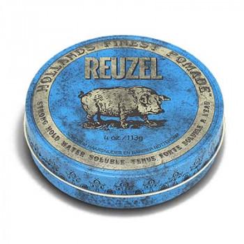 Помада сильной фиксации Синяя Reuzel Water Soluble Strong Hold Blue Pomade Pig 113 гр