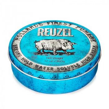 Помада сильной фиксации Синяя Reuzel Water Soluble Strong Hold Blue Pomade Hog 340 гр