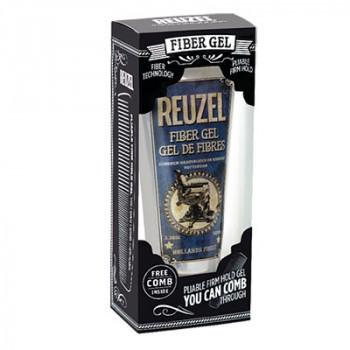 Набор Гель для укладки волос Reuzel Fiber Gel 100 мл + фирменная расческа