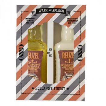 Набор Шампунь + Кондициоционер Reuzel Wash & Splash 2x350 мл
