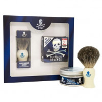 Набор для бритья: Помазок Badger Brush & Крем для бритья The Bluebeards Revenge